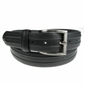 35mm Wide Bonded Leather Black Jeans or Chinos Belt Style 8430